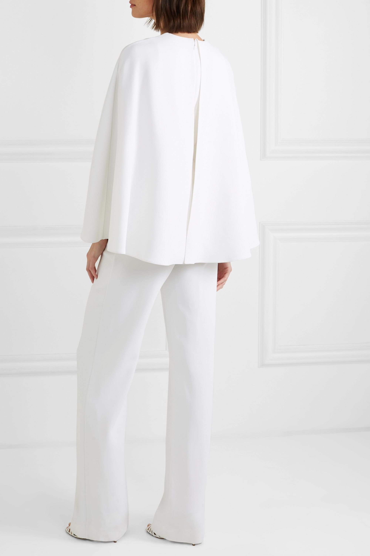 Cushnie Cape-effect stretch-crepe jumpsuit