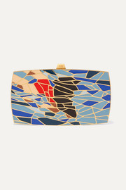 The Dive gold-tone and enamel clutch