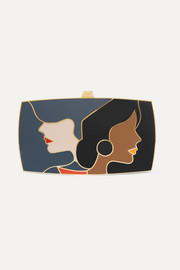 The First Encounter gold-tone and enamel clutch