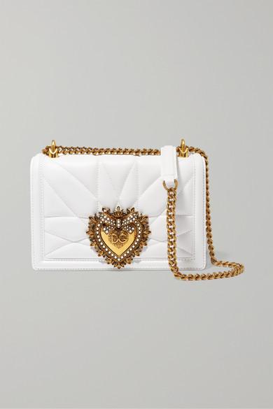 Dolce   Gabbana. Devotion mini embellished quilted leather shoulder bag 5f0176b1e6811