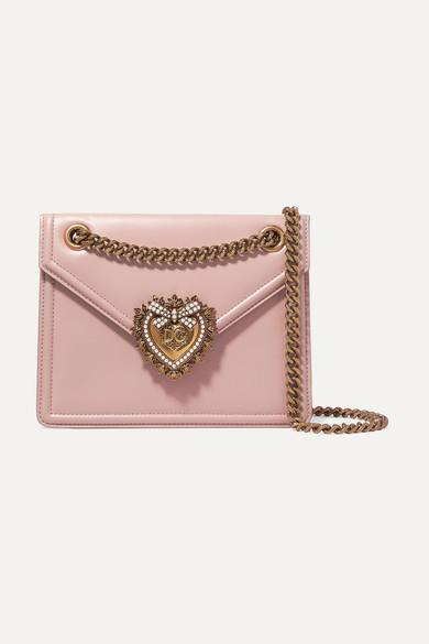 Dolce   Gabbana. Devotion mini embellished leather shoulder bag 730fc054217