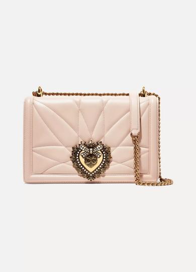 Dolce   Gabbana. Devotion embellished quilted leather shoulder bag 201d019fa7a1d