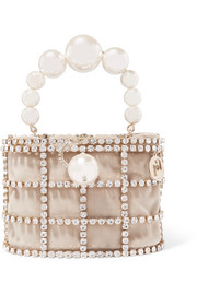 Rosantica Holli embellished gold-tone and velvet tote