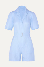 The Sienna belted cotton Oxford playsuit