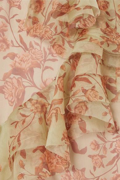 Johanna Ortiz Dresses Belle of the Ball ruffled floral-print silk-organza dress