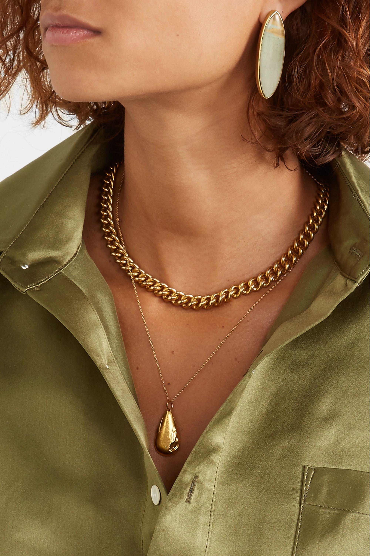 STVDIO Regina gold-tone jasper earrings