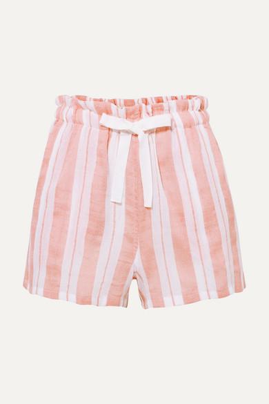 Lemlem Beachwear + NET SUSTAIN Doro striped cotton-blend gauze shorts