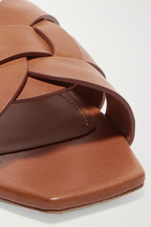 SAINT LAURENT Nu Pieds woven leather slides