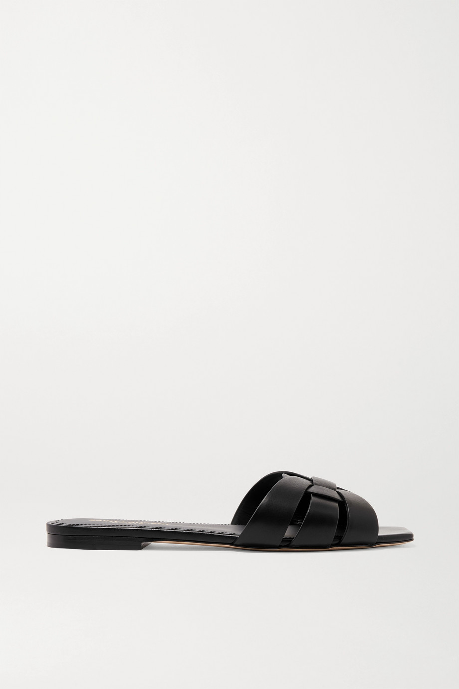 SAINT LAURENT Nu Pieds woven leather slides