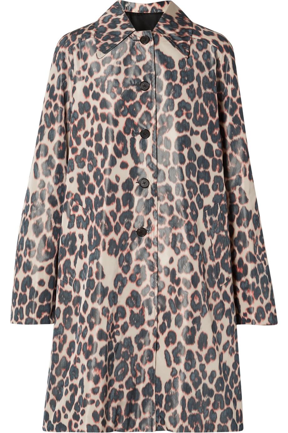 CALVIN KLEIN 205W39NYC Printed taffeta coat