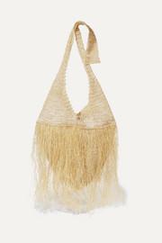 Johanna Ortiz Fringed woven straw tote