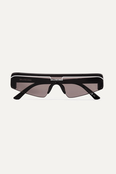 4ee13c9c06 Balenciaga Women S Rectangular Shield Sunglasses