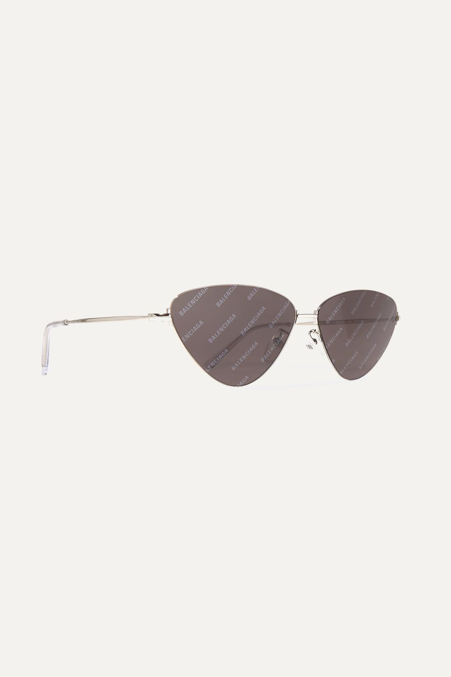 Balenciaga Invisible cat-eye silver-tone sunglasses