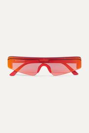 f01ed733eb Balenciaga - Ski square-frame acetate mirrored sunglasses