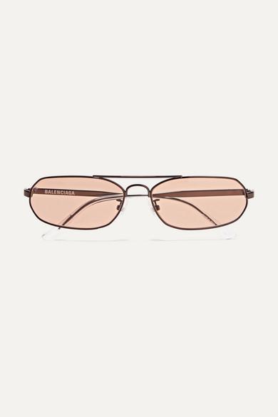 Balenciaga Sunglasses Agent oval-frame metal sunglasses
