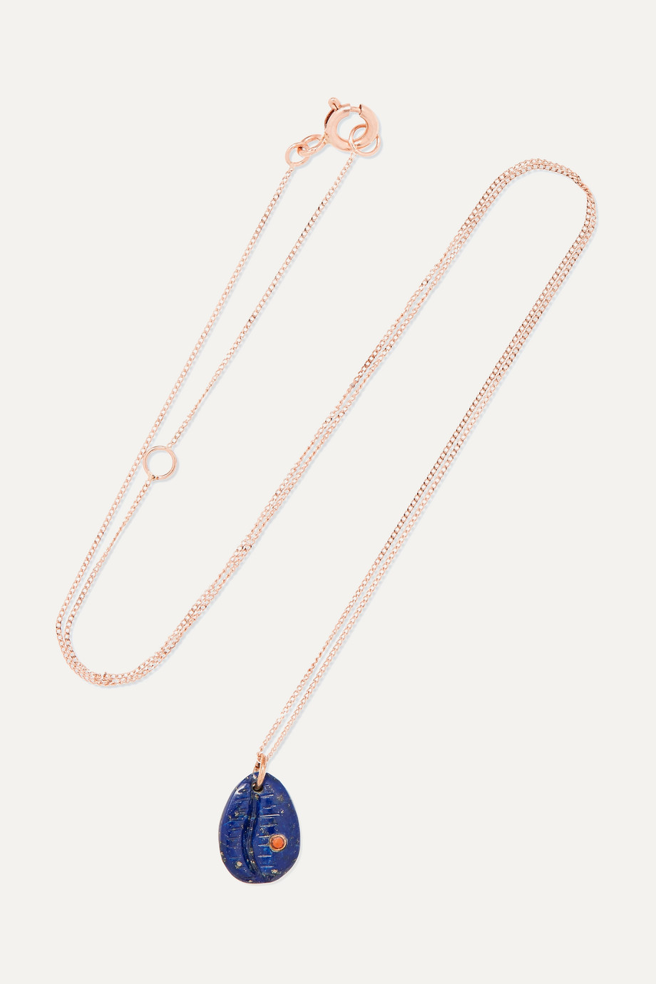 Pascale Monvoisin Cauri N°2 9-karat gold, lapis lazuli and faux coral necklace
