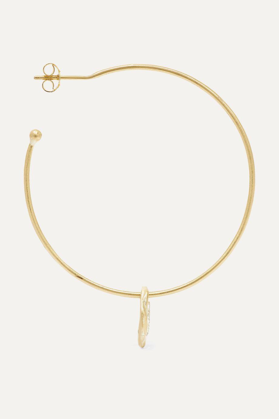Pascale Monvoisin Hayett 9-karat gold diamond earring