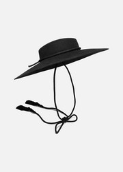 SAINT LAURENT Rope-trimmed rabbit-felt fedora