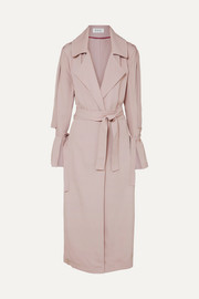 OCHI Belted twill trench coat