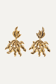 Chloé Willow oversized gold-tone clip earrings