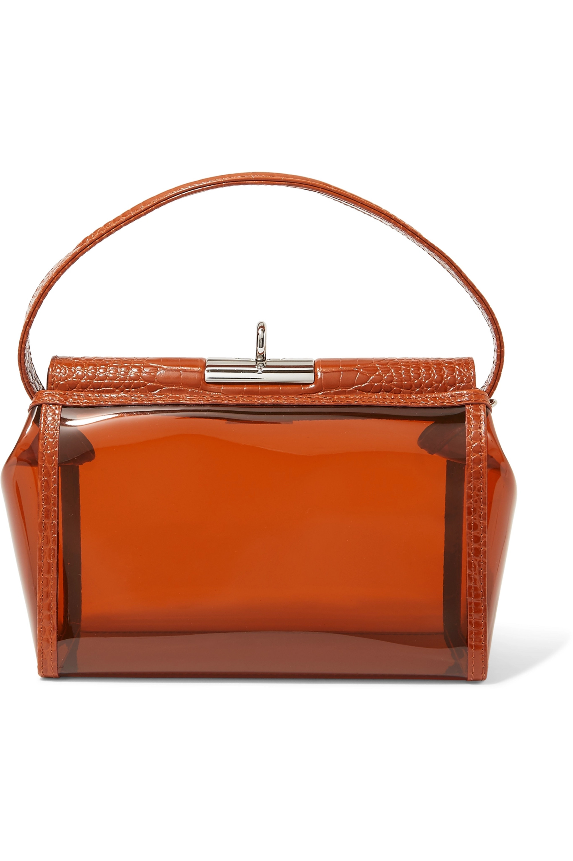 Gu_de Water PVC and croc-effect leather tote