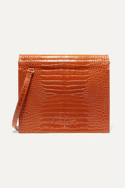 Edie croc-effect leather shoulder bag