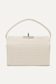 Gu_de Milky croc-effect leather tote