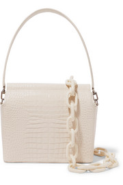 Duet croc-effect leather shoulder bag