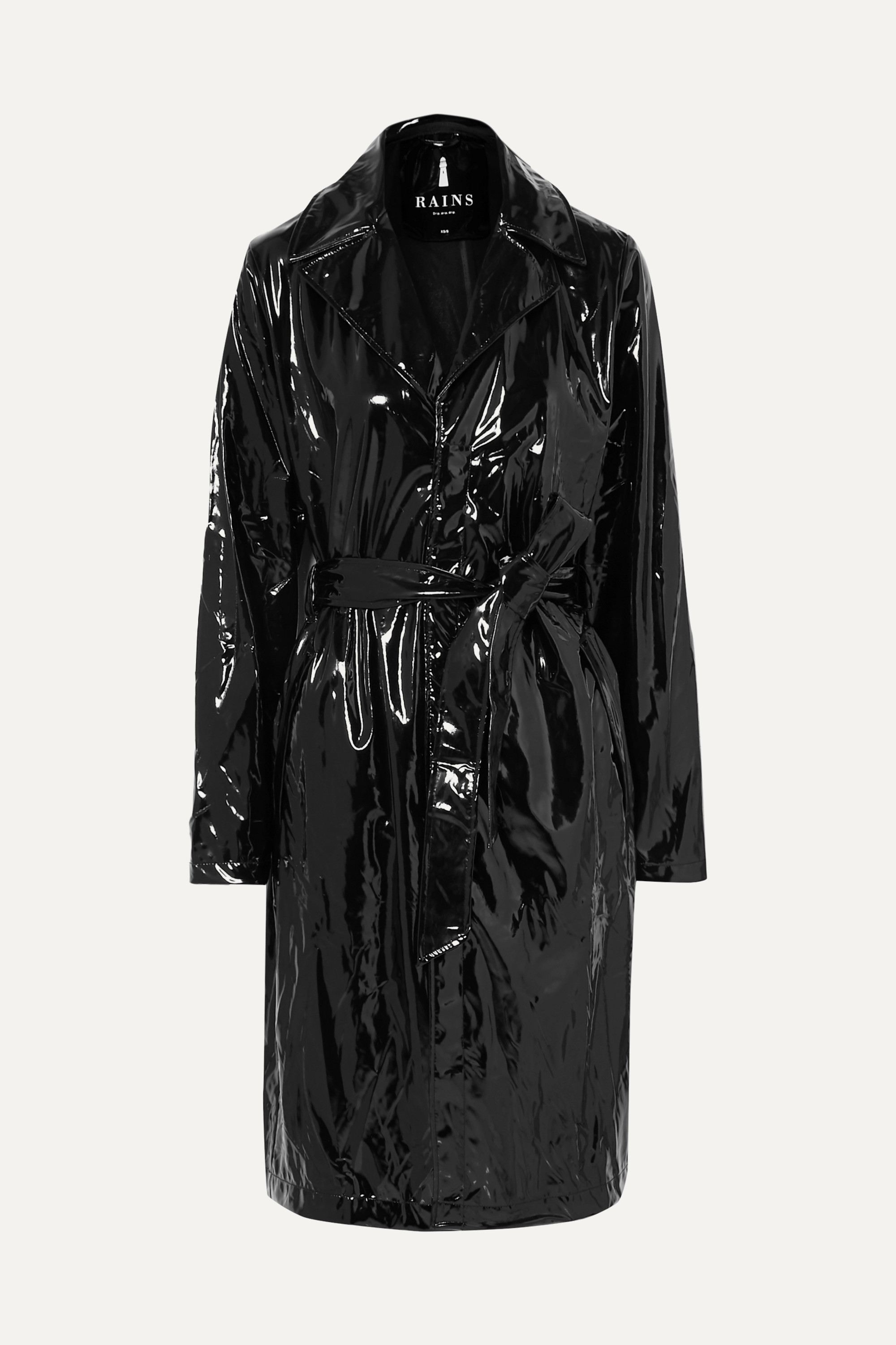 Rains Glossed-PU trench coat