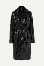 Trench-coat en PU brillant