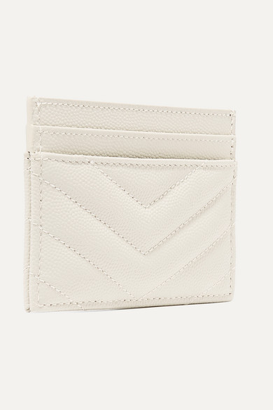 Saint Laurent Wallets Quilted textured-leather cardholder