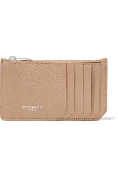 f8734be3cab SAINT LAURENT | Textured-leather cardholder | NET-A-PORTER.COM