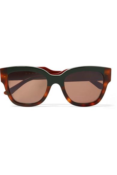 Marni Sunglasses Cromo cat-eye tortoiseshell acetate sunglasses