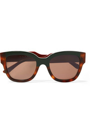 Cromo cat-eye tortoiseshell acetate sunglasses