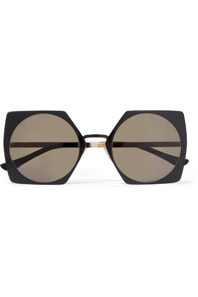 6ea3d8388b7 Marni. Oversized square-frame acetate and gold-tone sunglasses