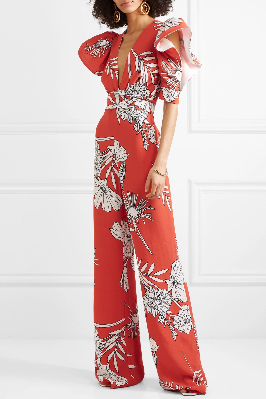 Silvia Tcherassi Melbourne floral-print crepe jumpsuit