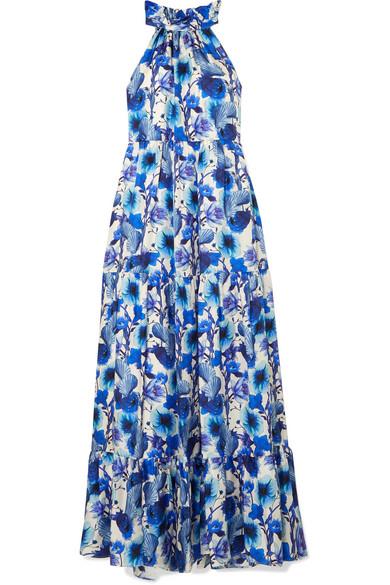 Borgo De Nor Dresses PANDORA FLORAL-PRINT SILK-TWILL MAXI DRESS