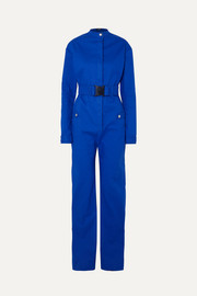 Kwaidan Editions Belted bonded-cotton jumpsuit