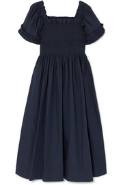 Molly Goddard Adelaide shirred cotton dress