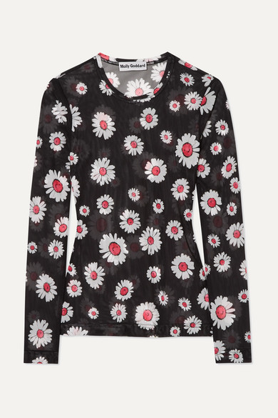 26341e7698d Molly Goddard   Freddie floral-print mesh top   NET-A-PORTER.COM
