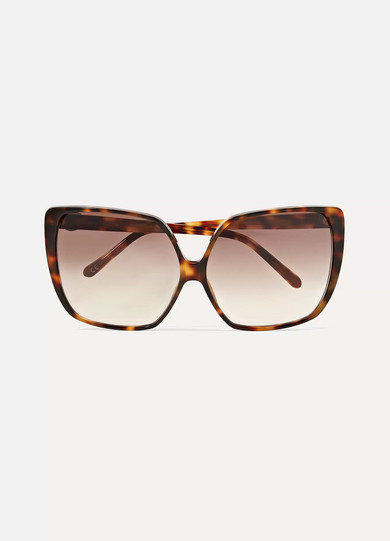 34da08c4fd Linda Farrow. Oversized square-frame tortoiseshell acetate sunglasses