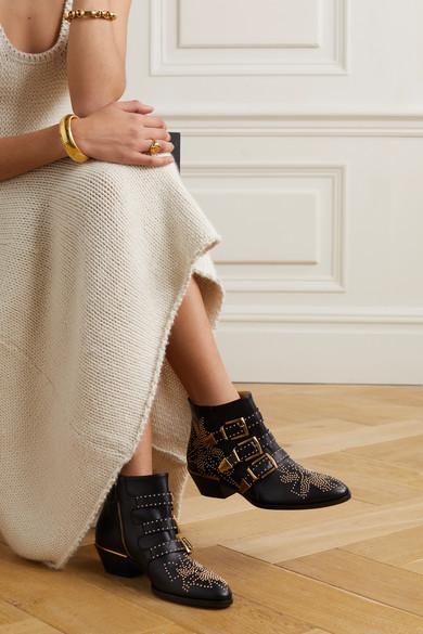 1bfed167 Chloé | Susanna studded leather ankle boots | NET-A-PORTER.COM
