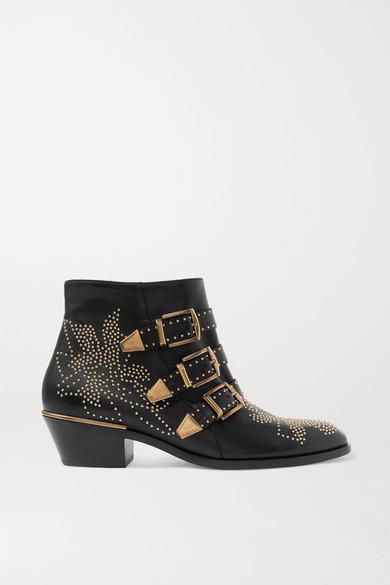neueste trends von 2019 bis zu 60% sparen Los Angeles Susanna Ankle Boots aus Leder mit Nieten