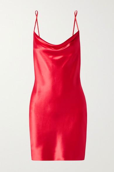 Fleur Du Mal Dresses Draped silk-charmeuse mini dress
