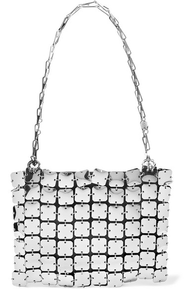 Paco Rabanne Shoulder Square 1969 chainmail and leather shoulder bag