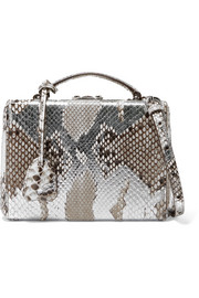 Mark Cross Grace small painted python shoulder bag