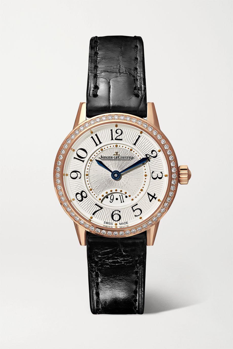 Jaeger-LeCoultre Rendez-Vous Date Small Quartz 29mm 18-karat rose gold, alligator and diamond watch