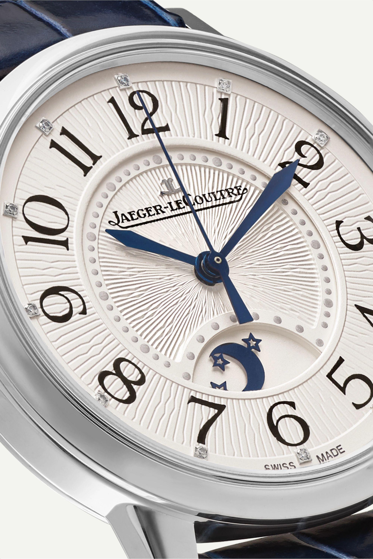 Jaeger-LeCoultre Rendez-Vous Night & Day 34 毫米钻石精钢腕表(短吻鳄鱼皮表带)
