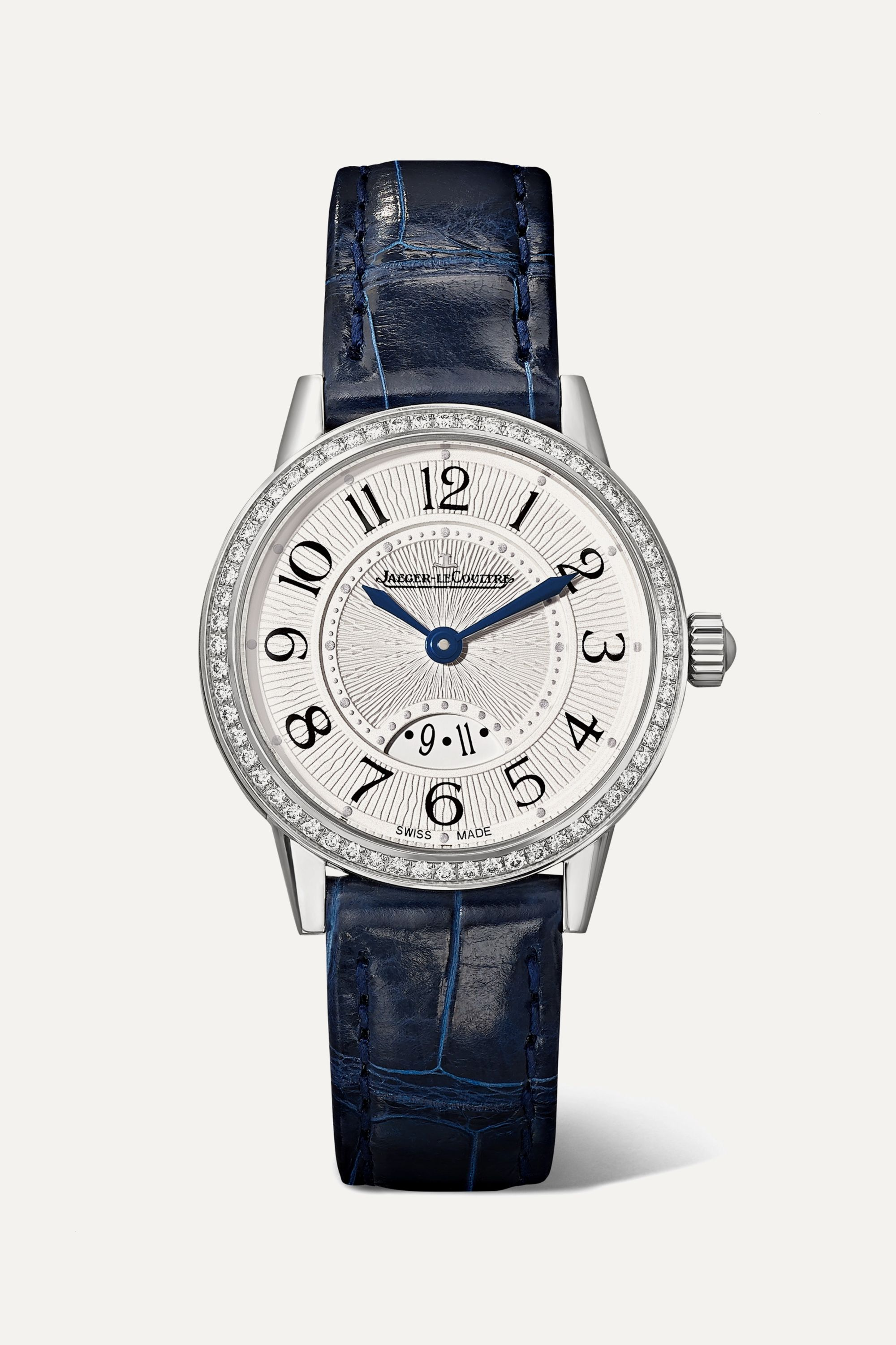 Jaeger-LeCoultre Rendez-Vous Date Small Quartz 29mm stainless steel, alligator and diamond watch