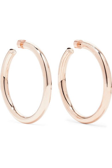 JENNIFER FISHER Samira Rose Gold-Plated Hoop Earrings